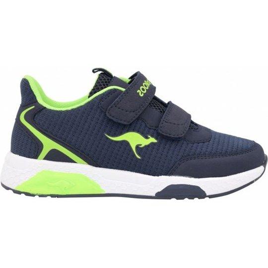 KangaROOS Kadee Spin V Sneaker, Dark Navy/Lime, 33
