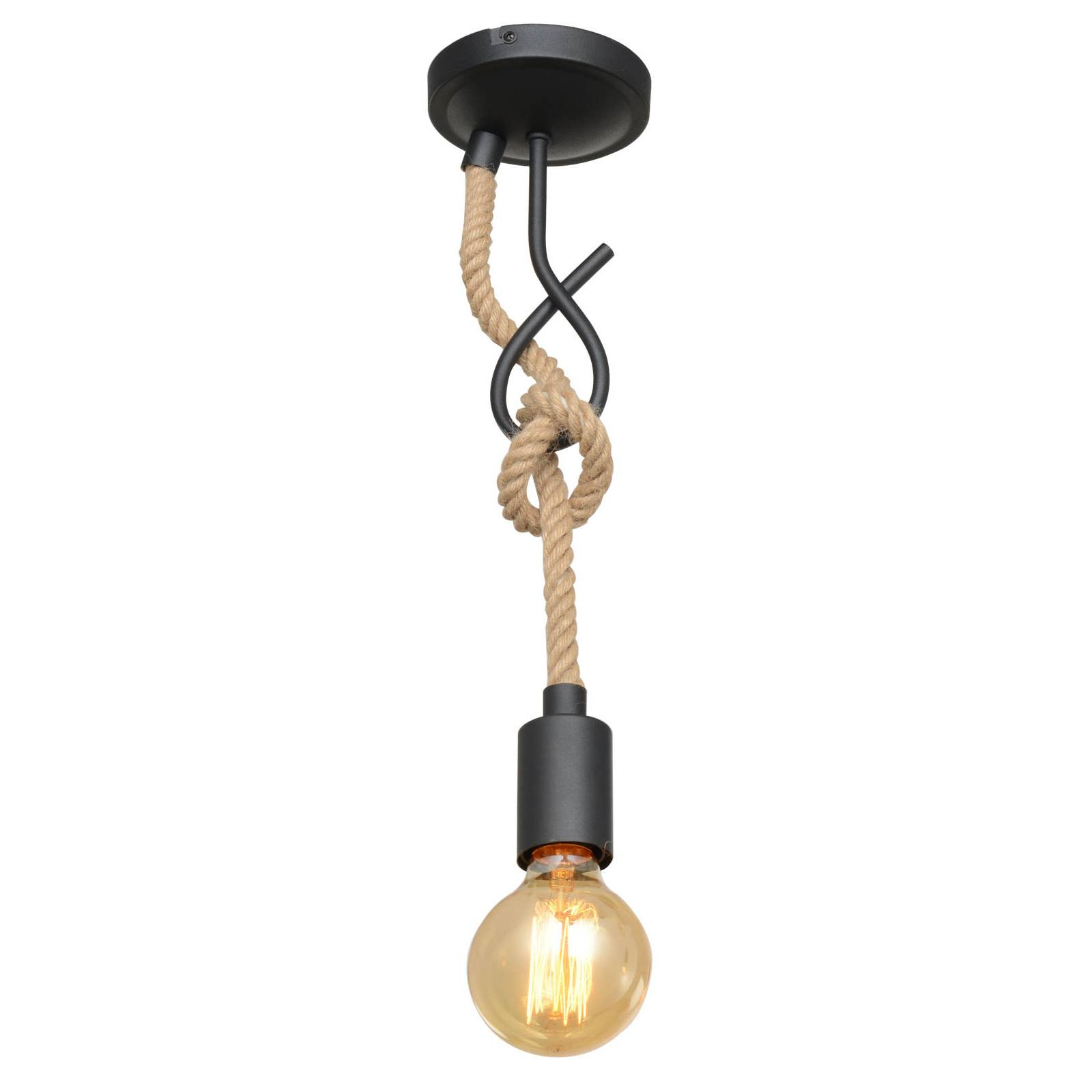 Lucande Ropina -riippuvalo, 1-lamppuinen