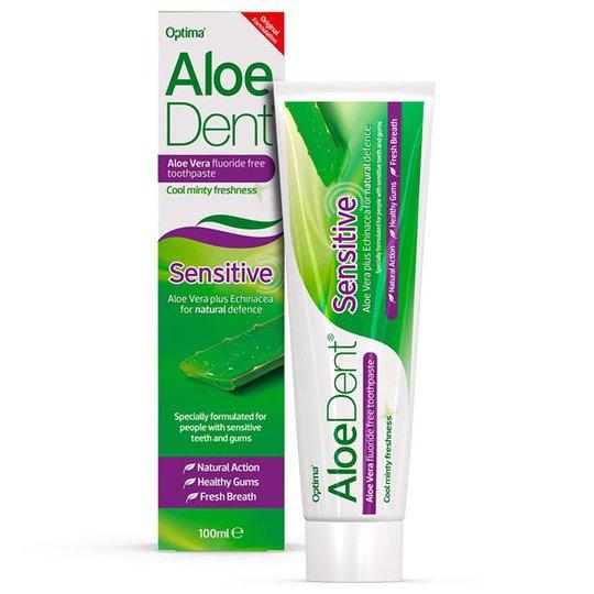 AloeDent Aloe Vera Sensitive Fluoride Free Toothpaste, 100 ml