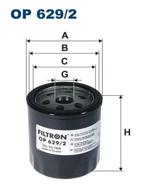 Öljynsuodatin FILTRON OP 629/2
