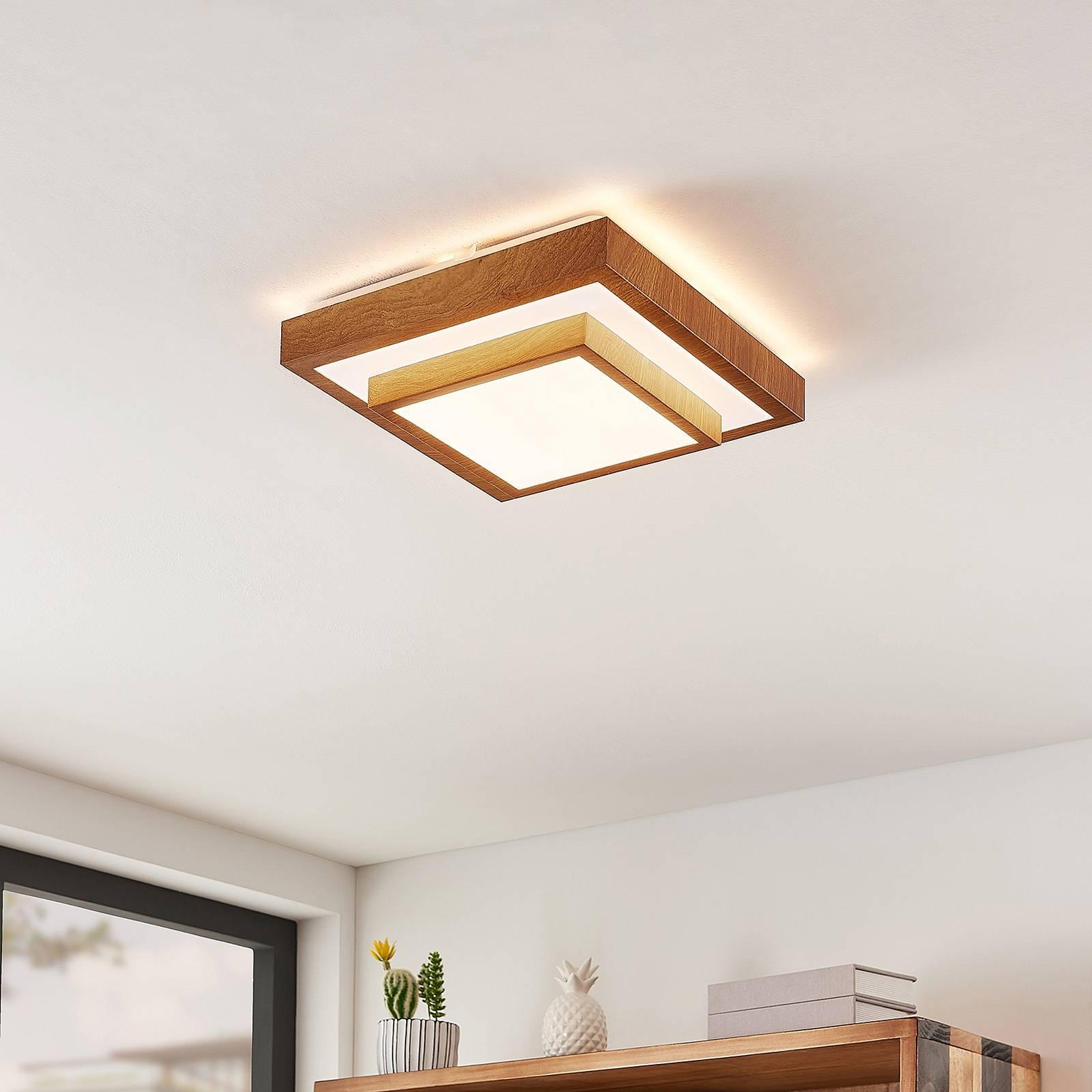 Lindby Mendosa -LED-kattovalaisin, kulmikas