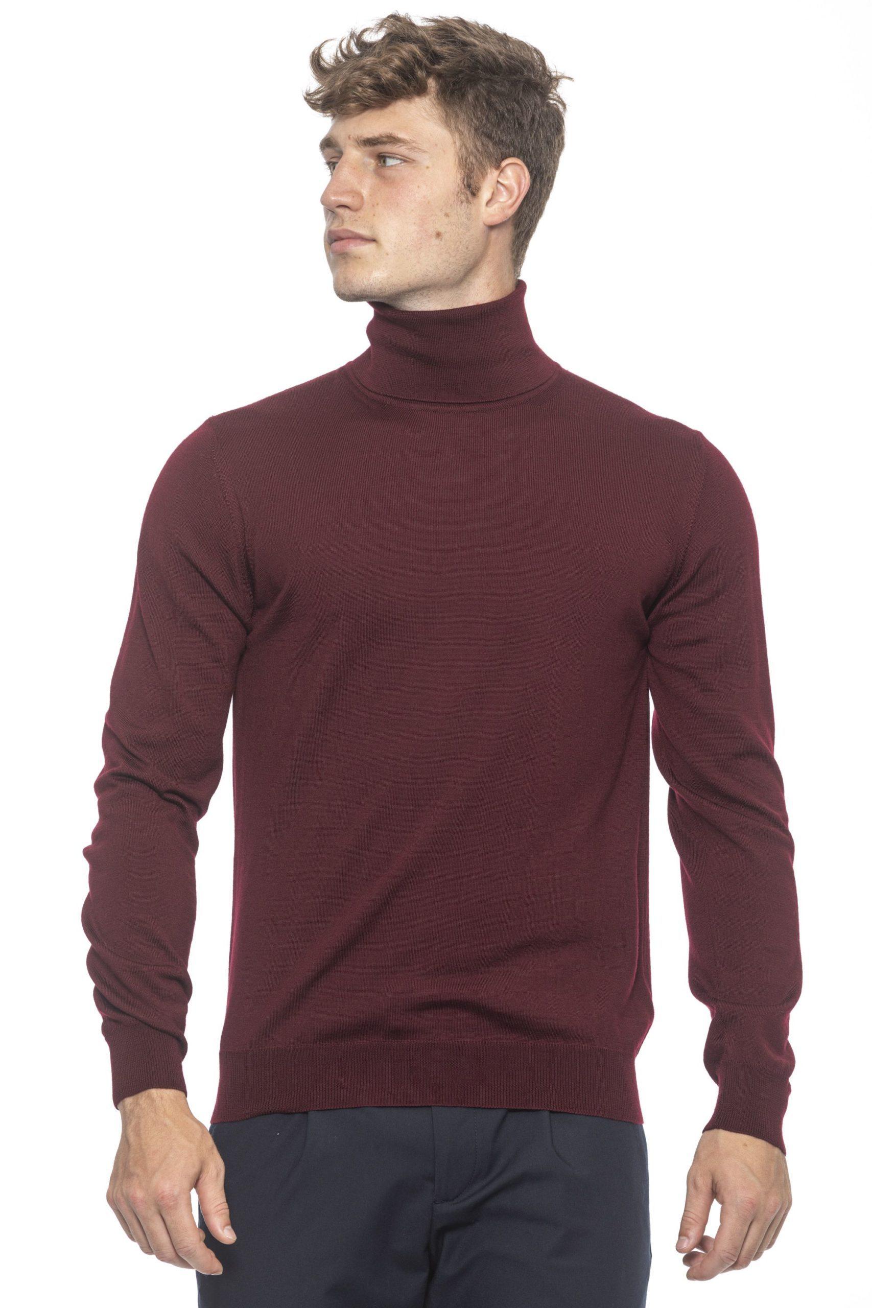 Alpha Studio Men's Sweater Burgundy AL1314590 - IT50 | L
