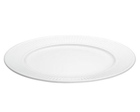Plissé tallerken flat hvit, Ø 28 cm