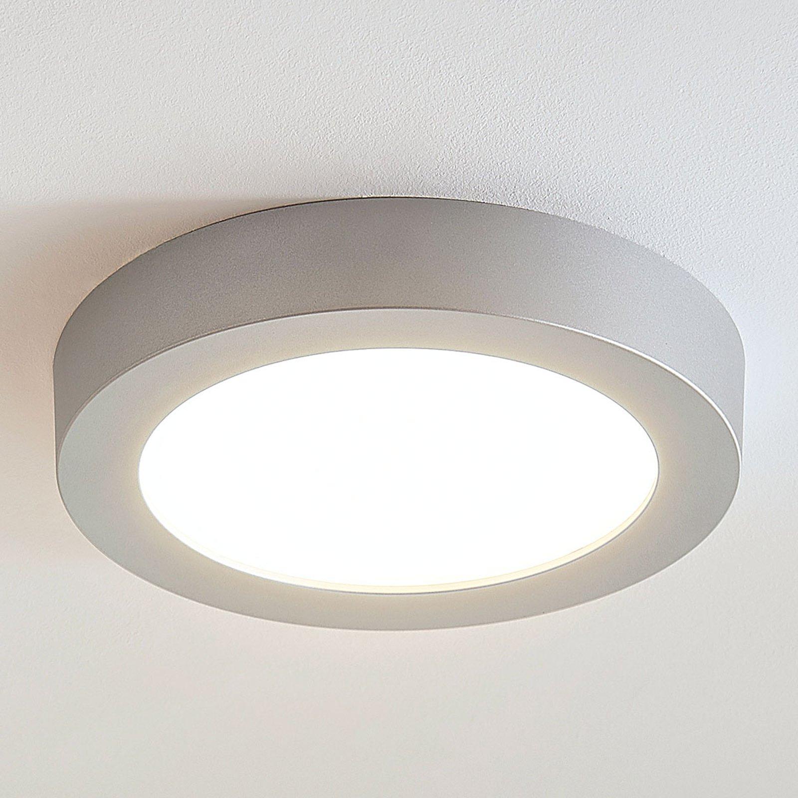 LED-taklampe Marlo sølv 3 000K rund 25,2cm