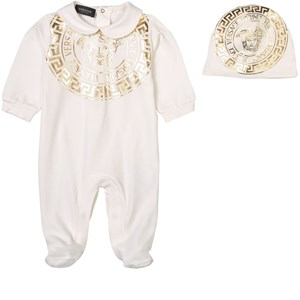 Versace 2-delat Gold Medusa Baby Body-set Vitt 0-3 mån