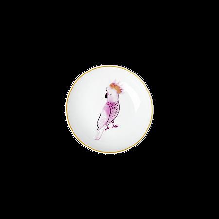 Cockatoo print Dippskål 12 cm Porselen