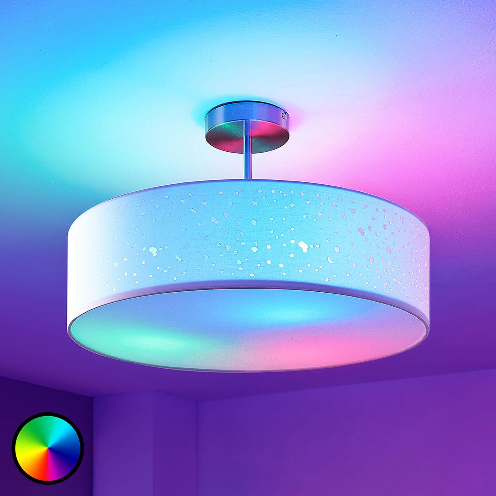 Lindby Smart LED-taklampe Alwine med klaring