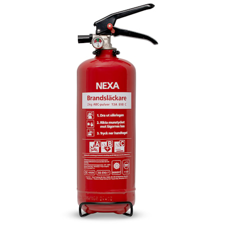 Nexa Fire & Safety Brandsläckare Röd 2kg 13A