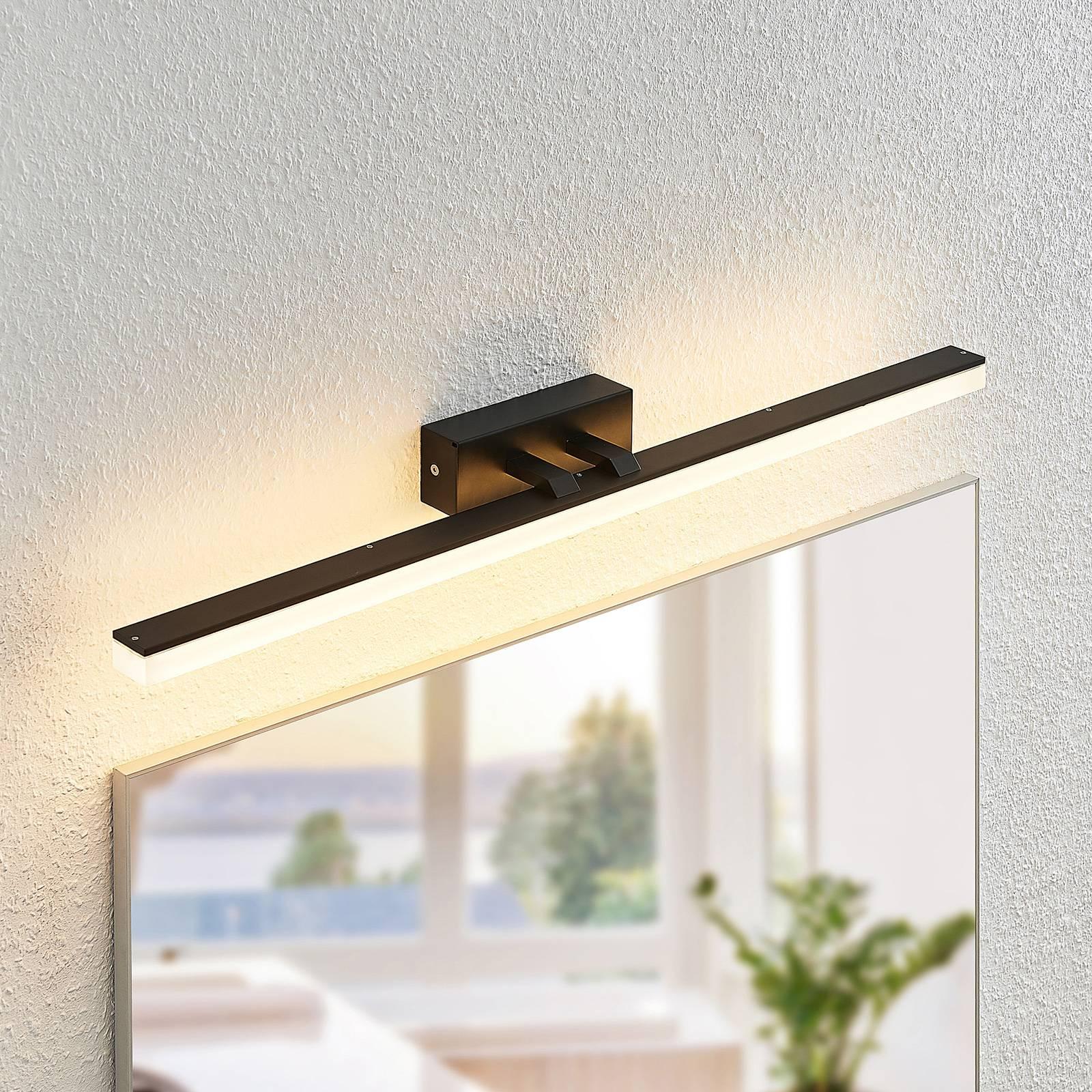 Lucande Lisana -LED-seinävalaisin, IP44, 75 cm