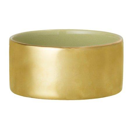 Varmelysholder Gull/grønn