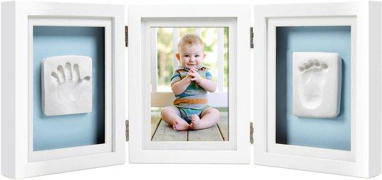 Pearhead Babyprints Deluxe Fotoramme Trippel Ledad, Hvit