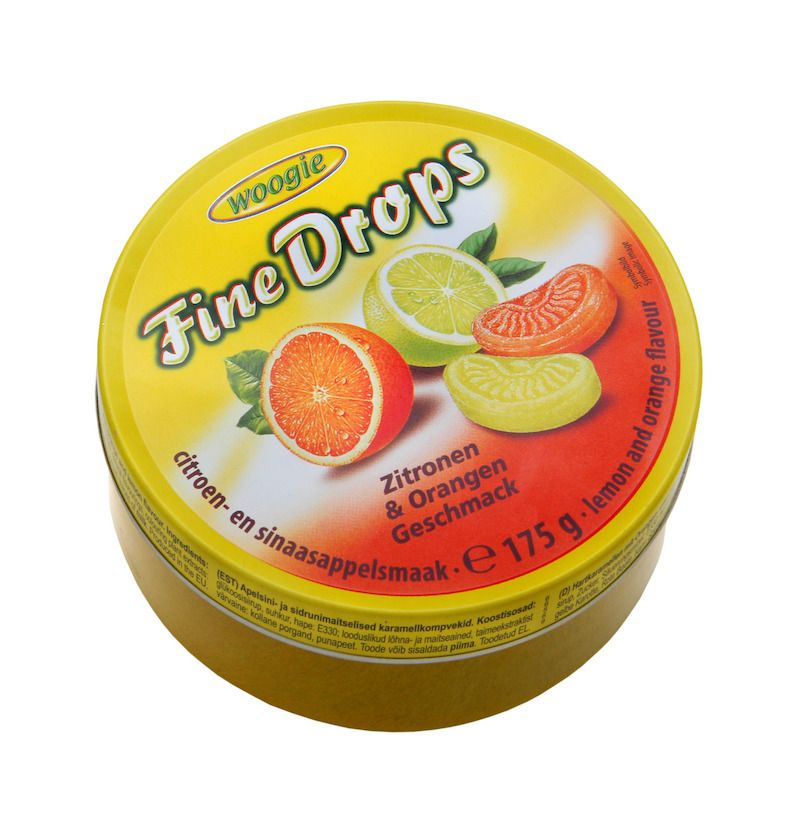 Woogie Fine Drops - Citron-Apelsin 175g