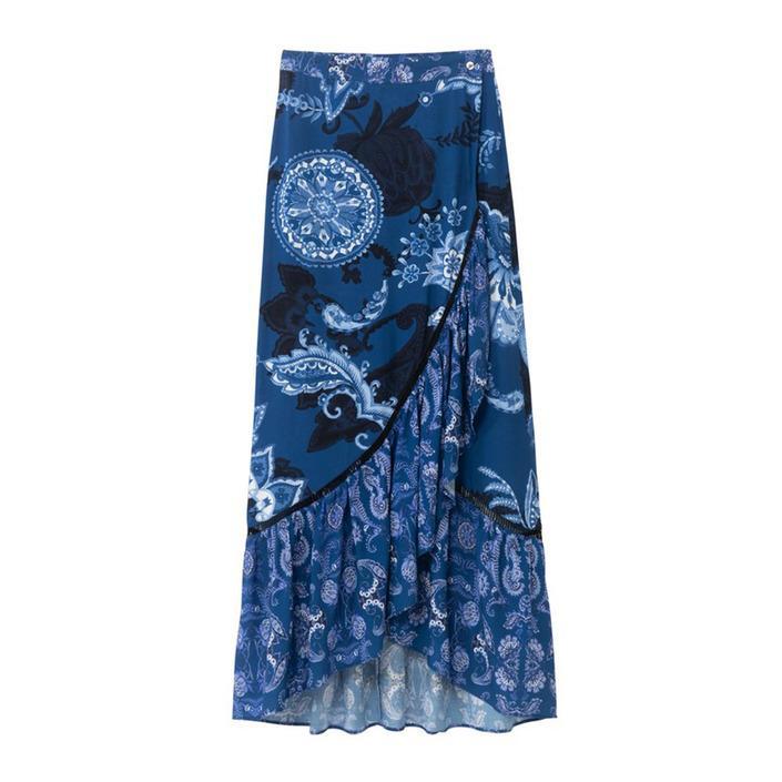 Desigual Women's Skirt Blue 204033 - blue S