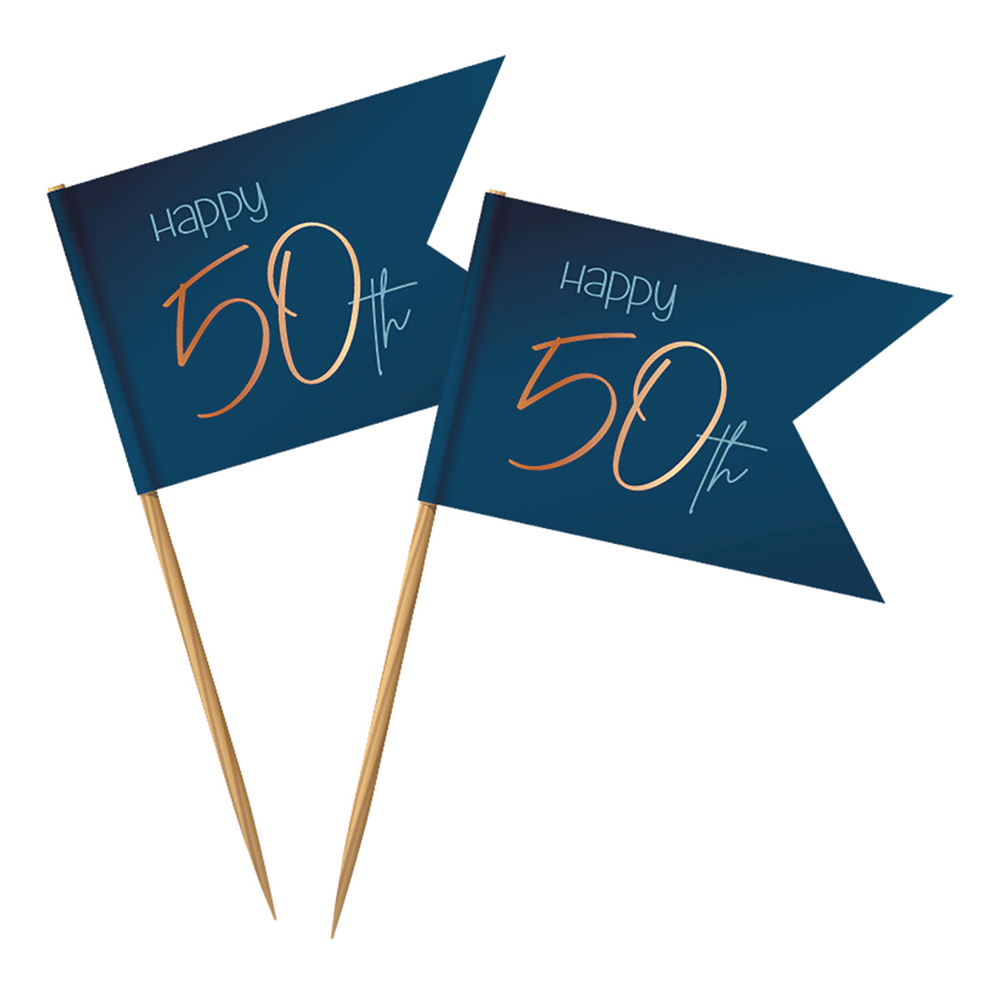 Partypicks Happy 50th True Blue - 36-pack