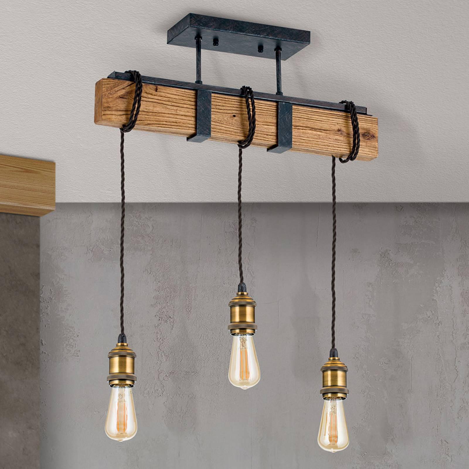 Rippuvalaisin Cellar vintage-tyyliä, 3-lamppuinen