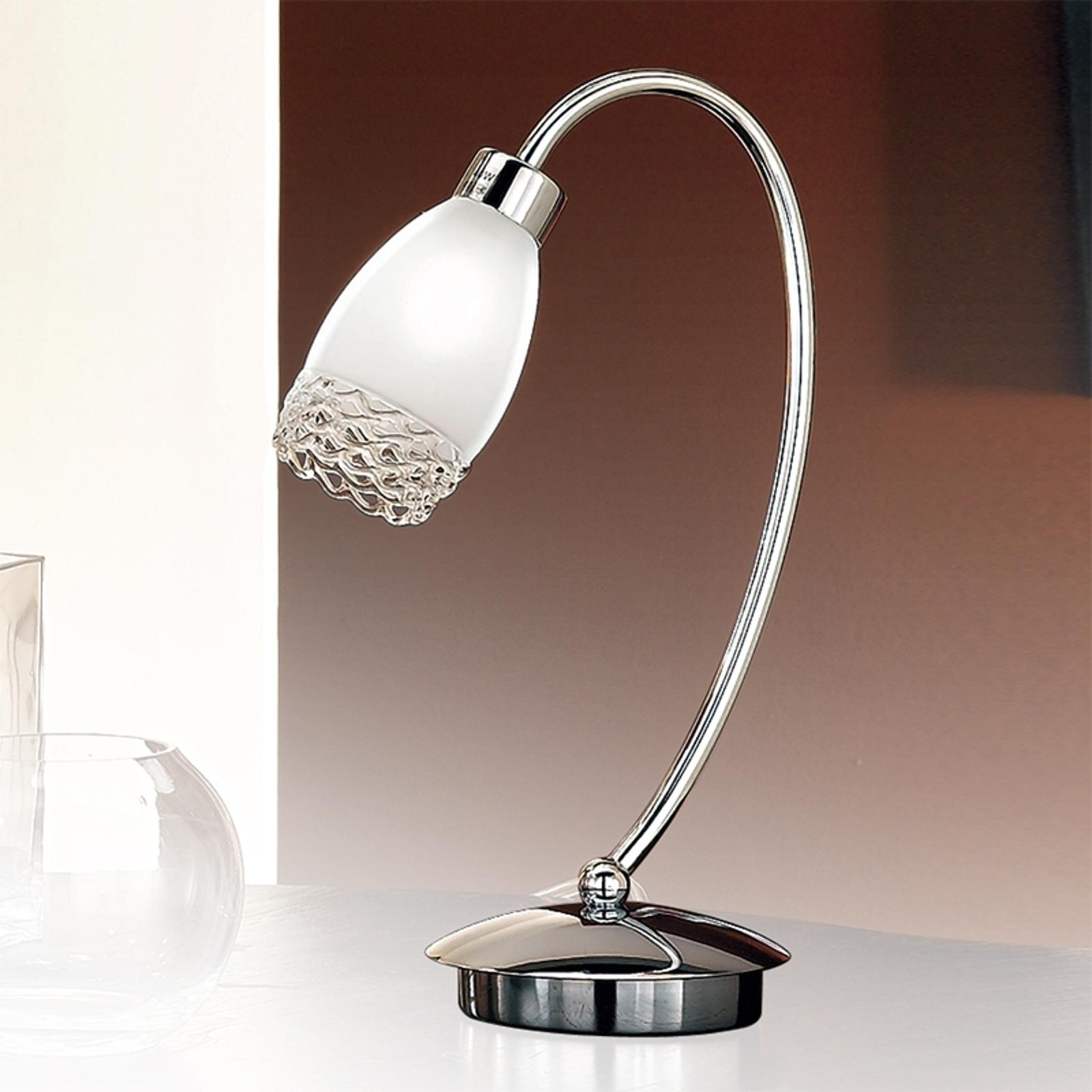 MARISA-pöytävalaisin, 1-lamppuinen, lasivarjostin