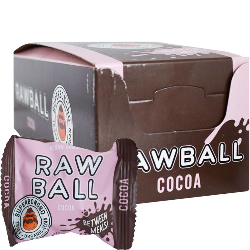 "Eko Hel Låda Rawballs ""Cocoa"" 8 x 22g - 59% rabatt"