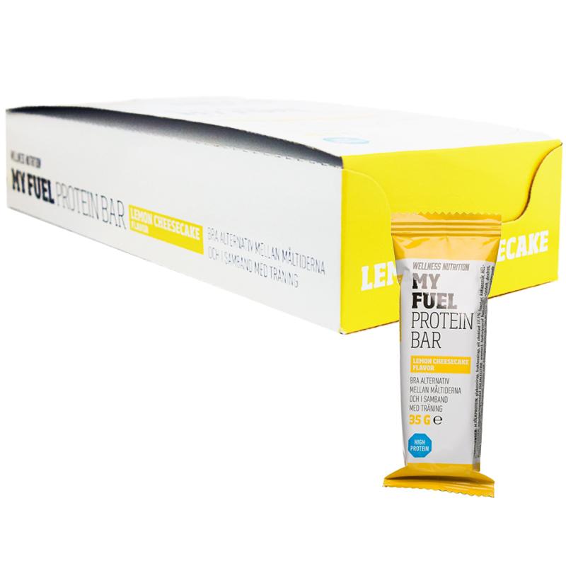 """Hel Låda Proteinbars """"Lemon Cheesecake"""" 24 x 35g - 90% rabatt"""