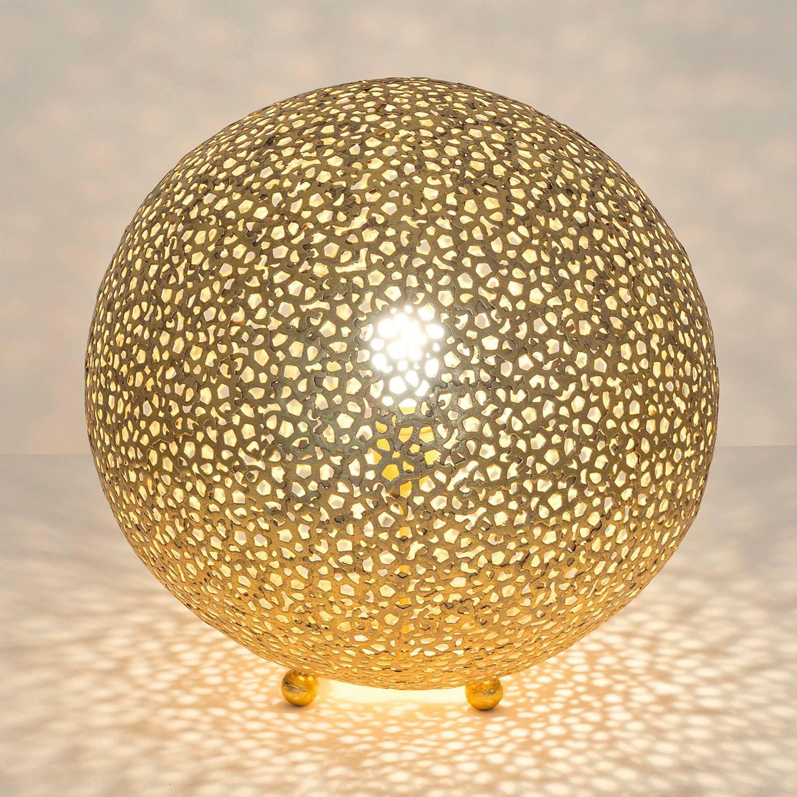 Bordlampe Lily Grande, Ø 43 cm, gull