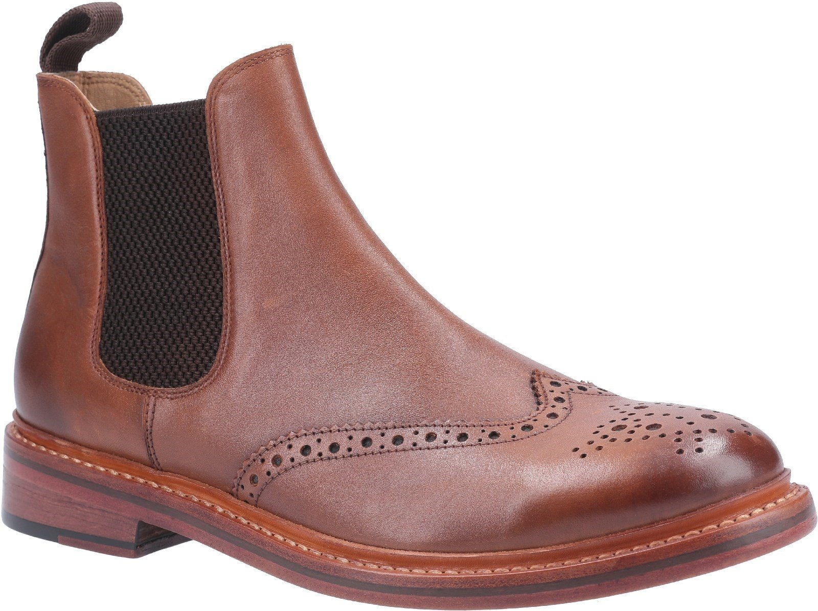 Cotswold Men's Siddington Leather Goodyear Welt Boot Various Colours 29258 - Brown 7