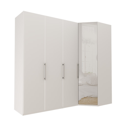 Garderobe Atlanta - Hvit 150 cm, 236 cm, Hvit