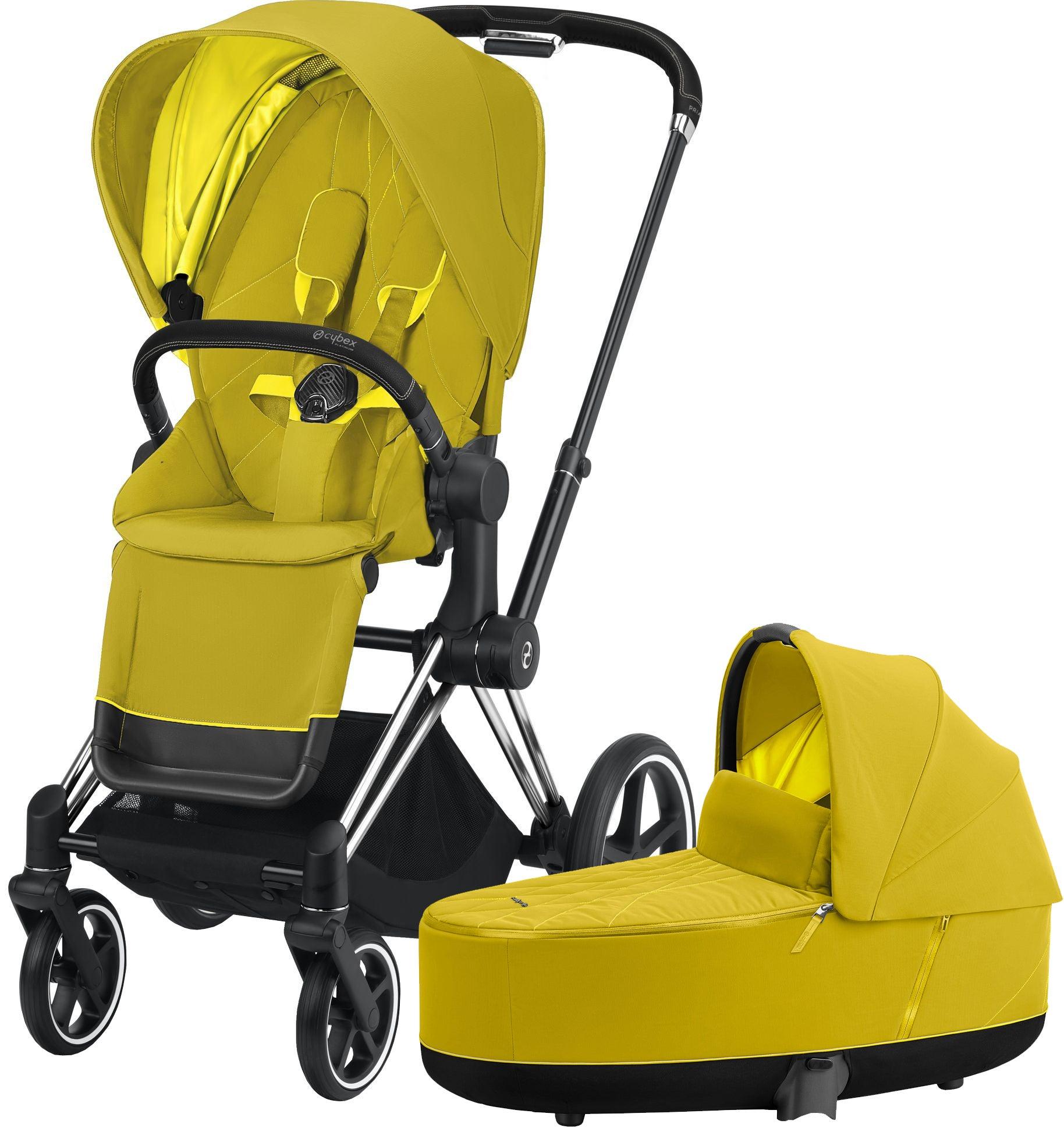 Cybex Priam Duovagn, Mustard Yellow/Chrome Black