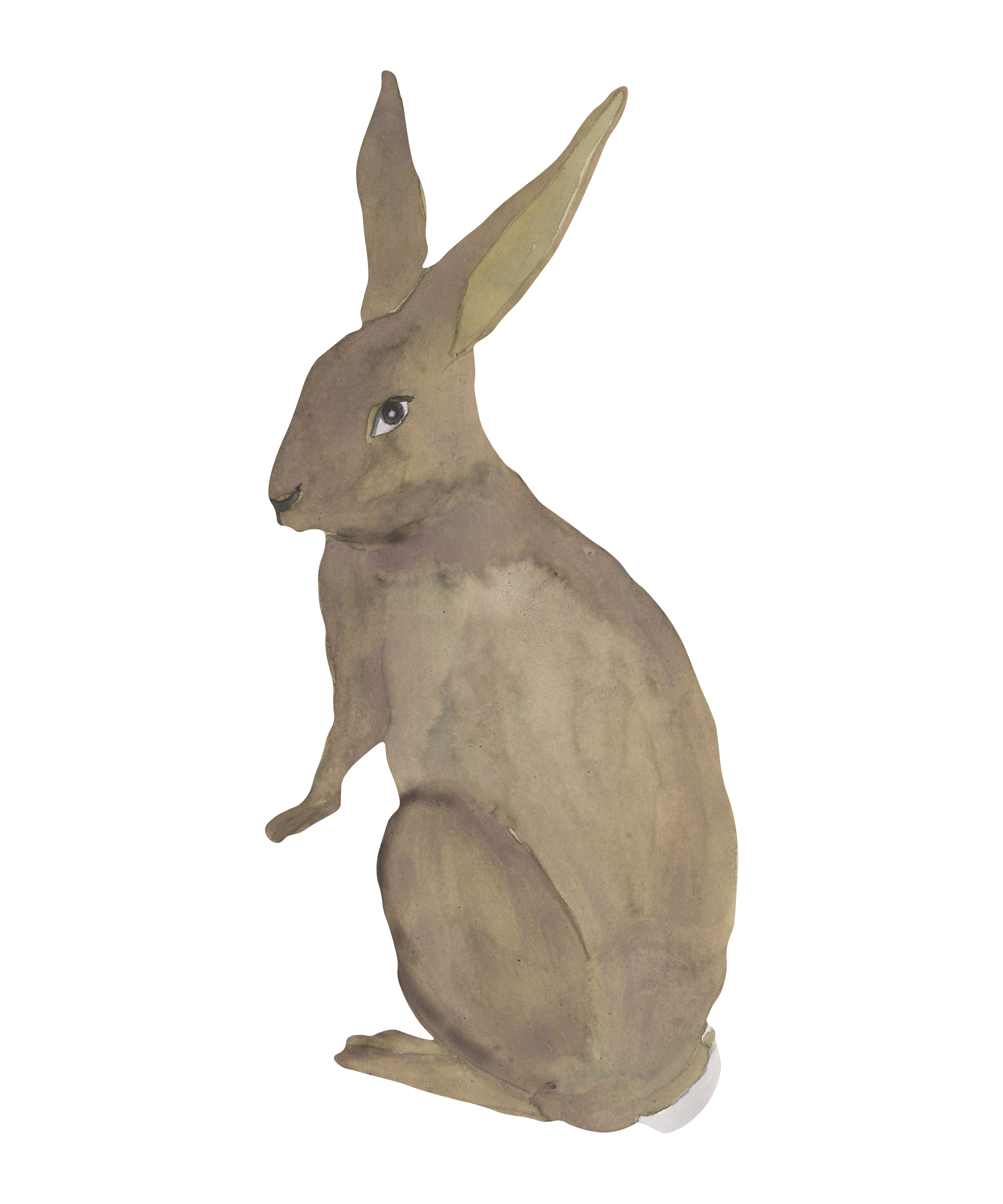 That's Mine - Wall Sticker Hare - Brown (O8092)