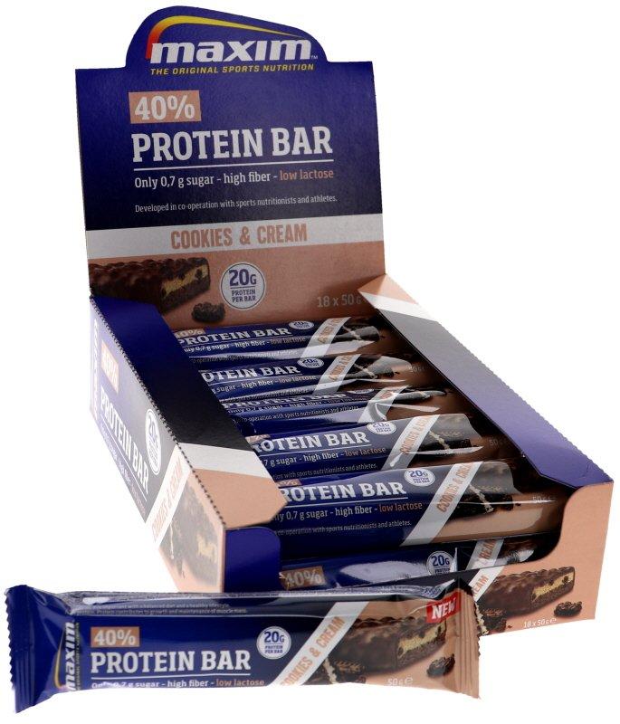 Proteiinipatukat Cookies & Cream 18kpl - 40% alennus
