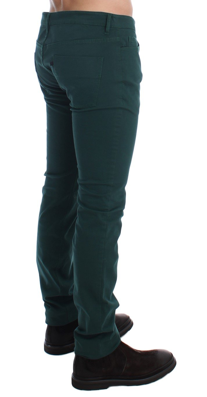 Costume National Men's Slim Fit Cotton Stretch Trouser Green SIG17919 - W34