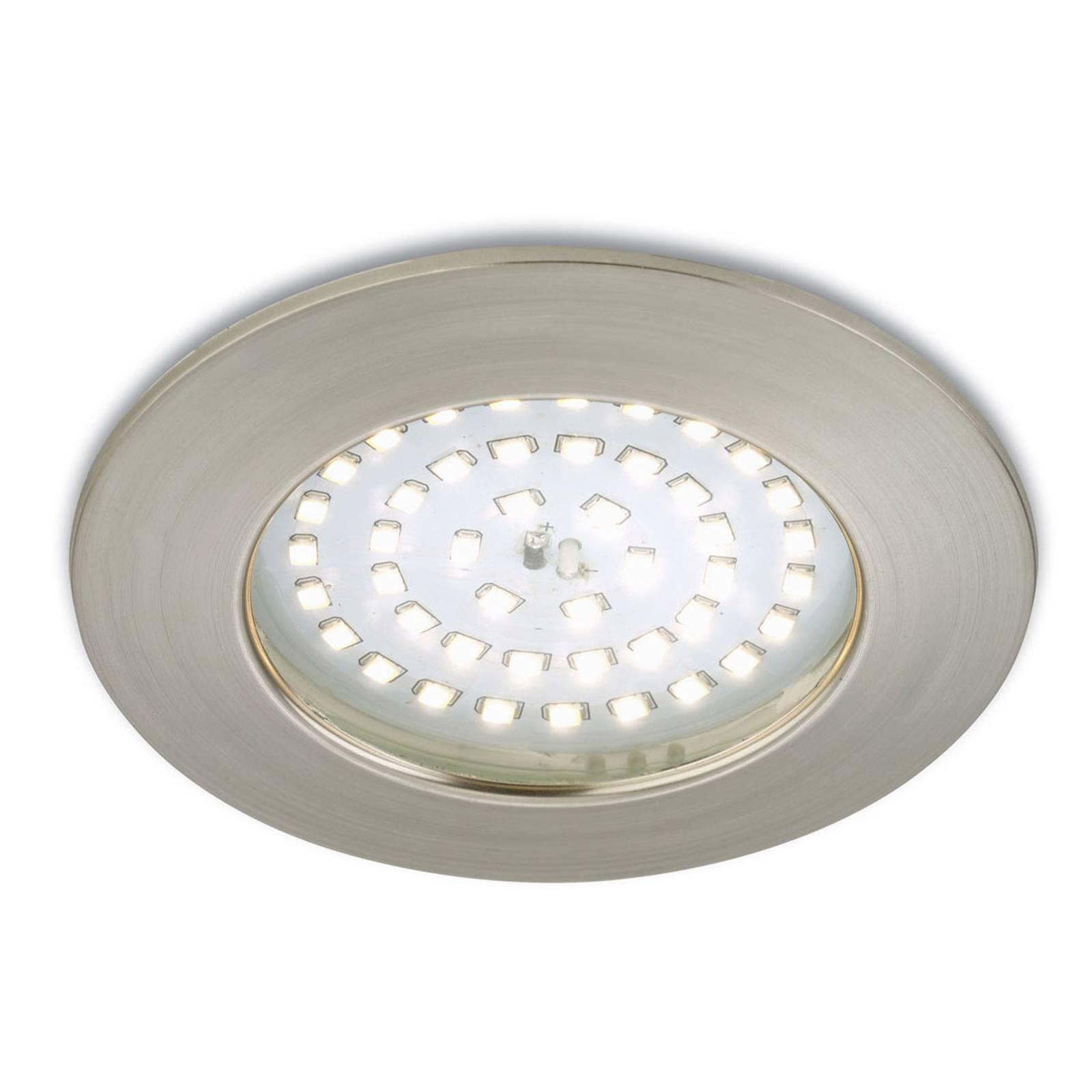 Tehoste-LED-uppokohdevalaisin Paul matta nikkeli