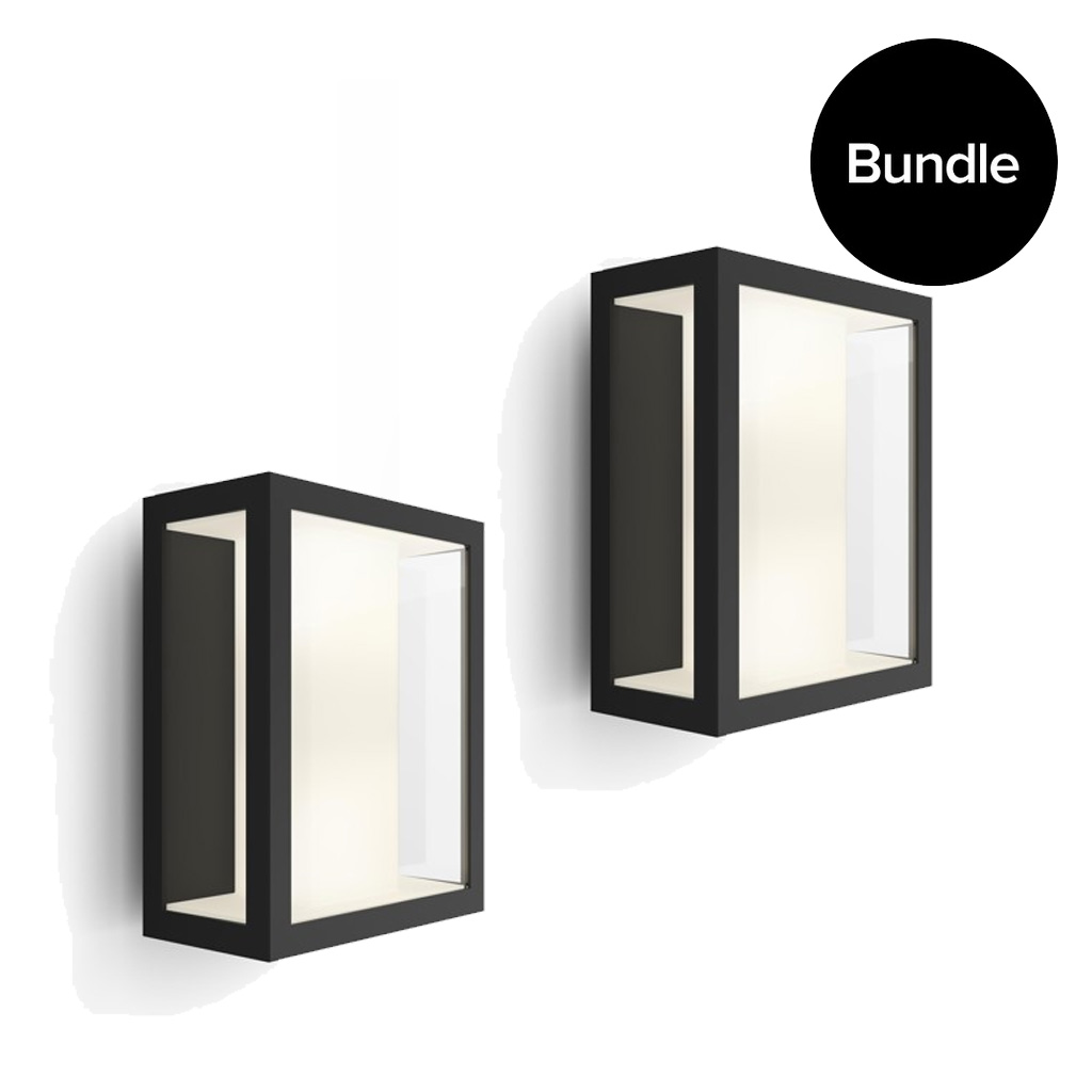 Philips Hue - 2x Impress Wall Lantern Outdoor - White & Color Ambiance - Bundle