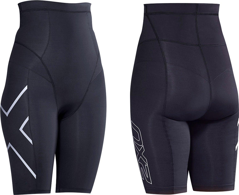 2XU Postnatal Compression Shorts, Black/Silver, XS