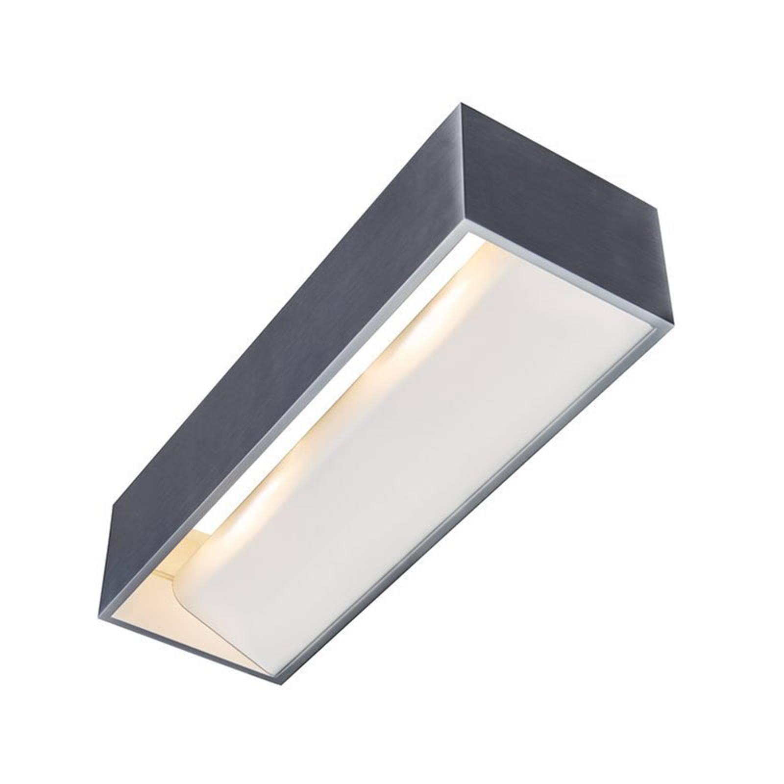 SLV Logs In -LED-seinävalaisin 30 cm alumiini