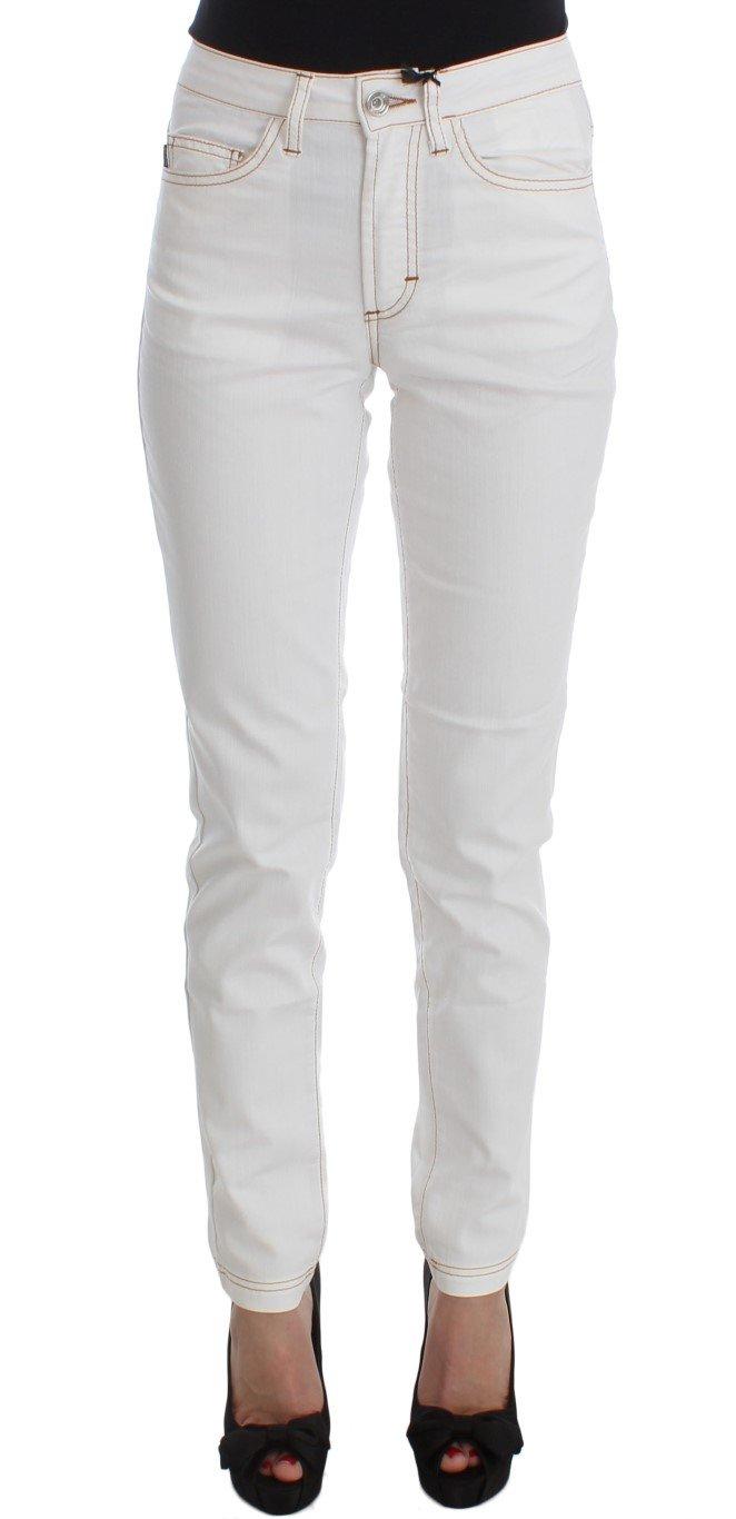 Cavalli Women's Cotton Blend Slim Fit Jeans White SIG30106 - W26