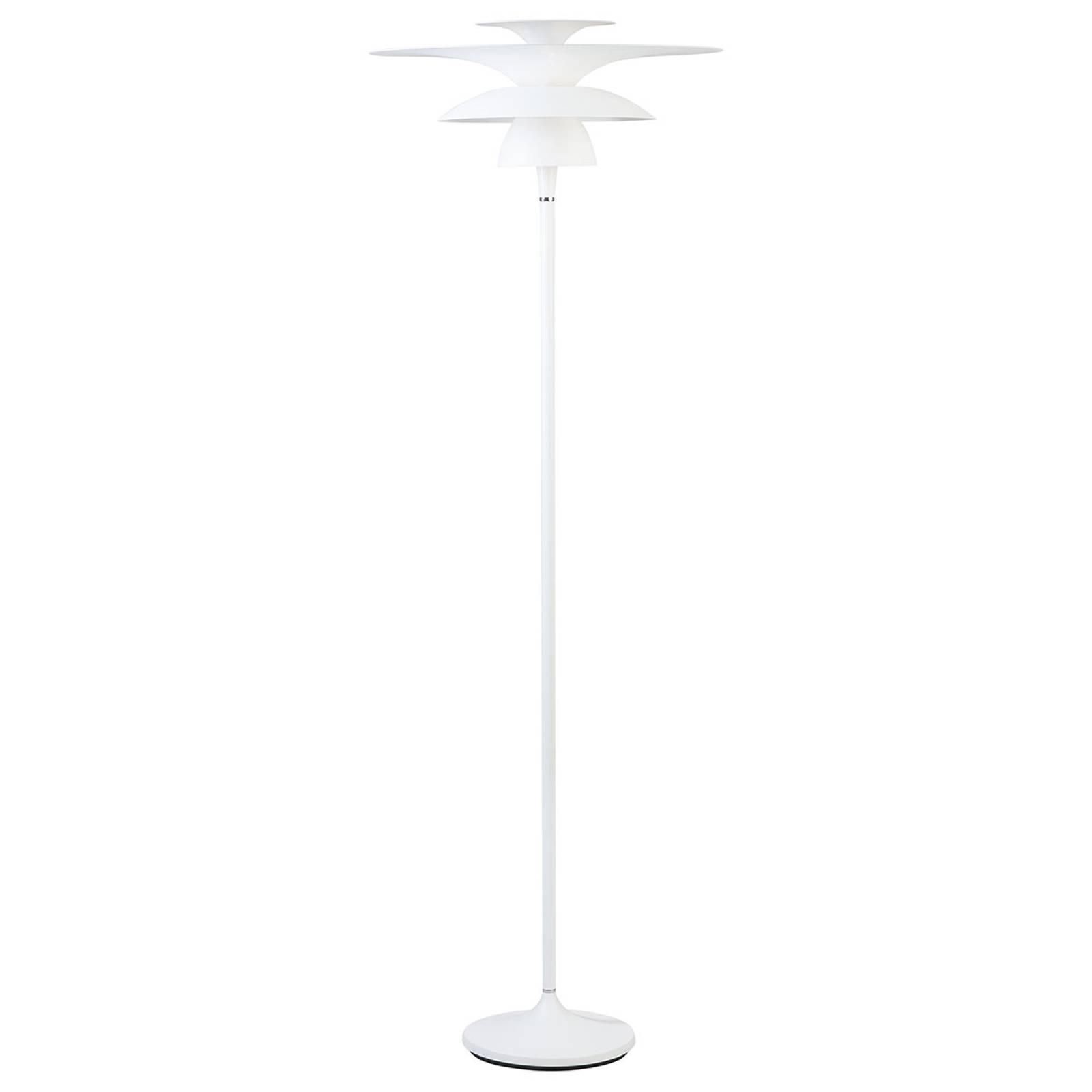 Picasso-LED-lattiavalo, varjostin 38 cm, valkoinen