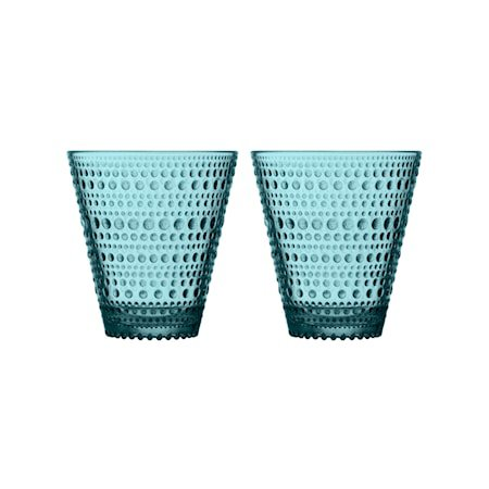 Kastehelmi glas 30 cl havblå 2 stk.
