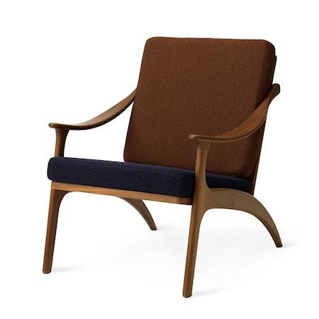 Lean Back Lounge Chair Royal blue/Spicy brown Teak