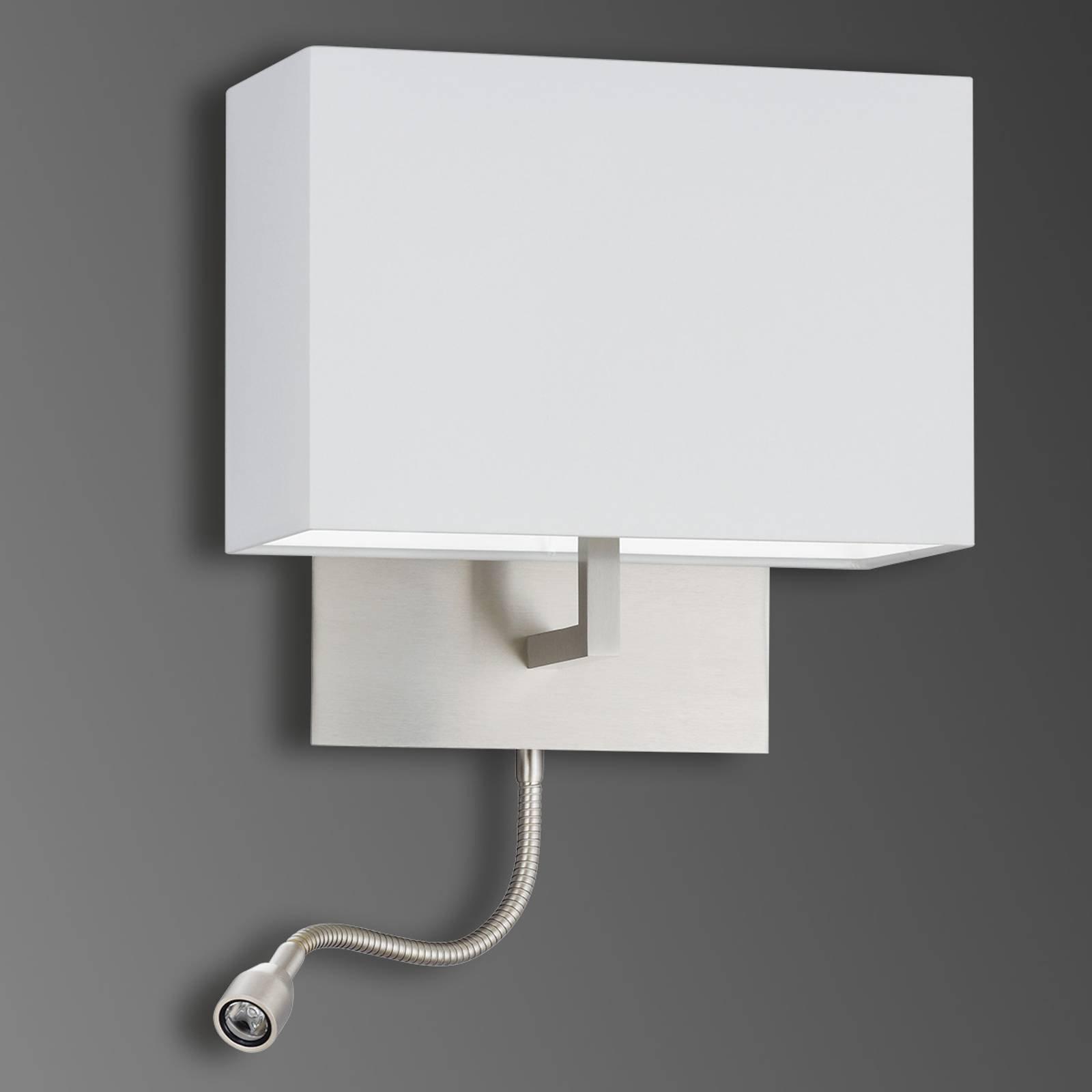 Vegglampe Mikola i chintz med LED-lesearm