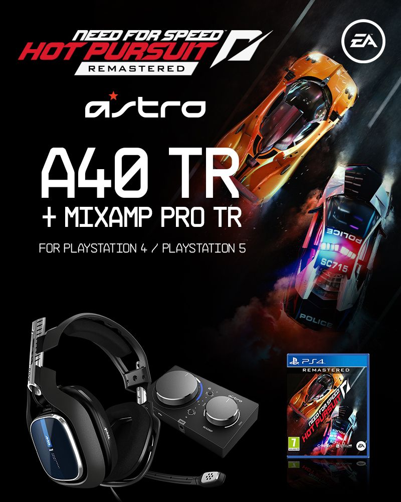 Astro - A40 TR + MA Pro TR Gen 4 & Need for Speed Hot Pursuit Remaster - PS4 BUNDLE