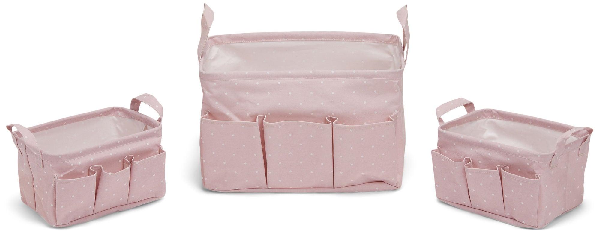 Alice & Fox Säilytyskori 3-Pack, Pink