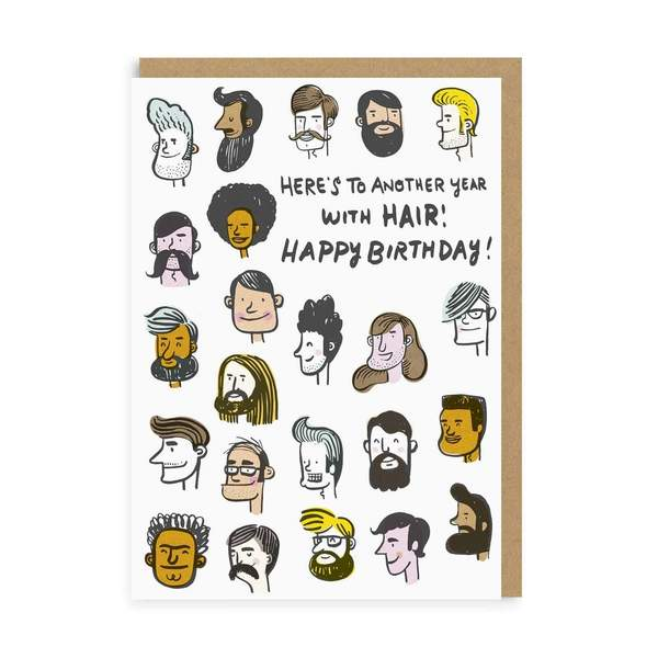 Another Year With Hair Birthday Greeting Card
