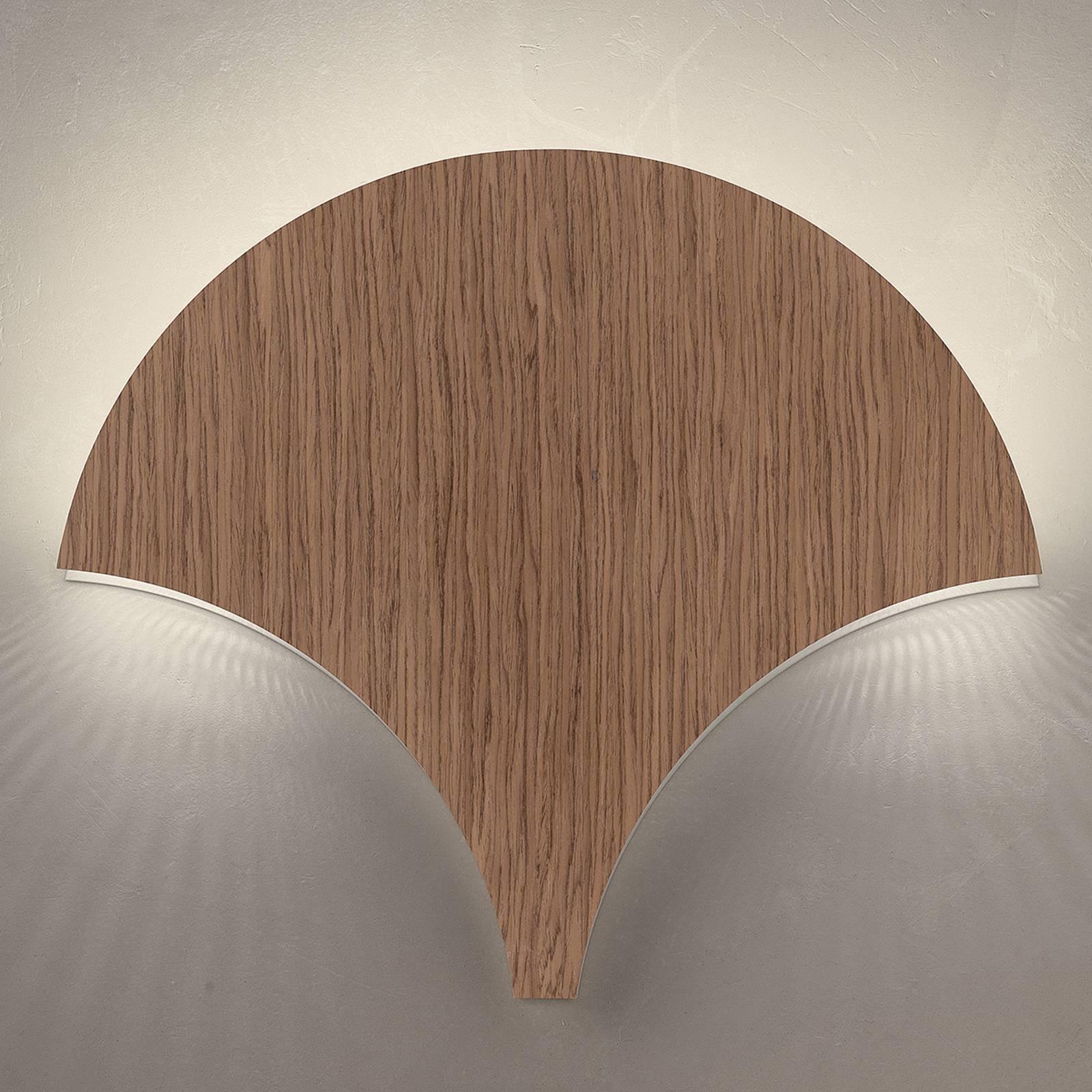 Ainutlaatuinen LED-seinävalaisin Palm, pähkinä