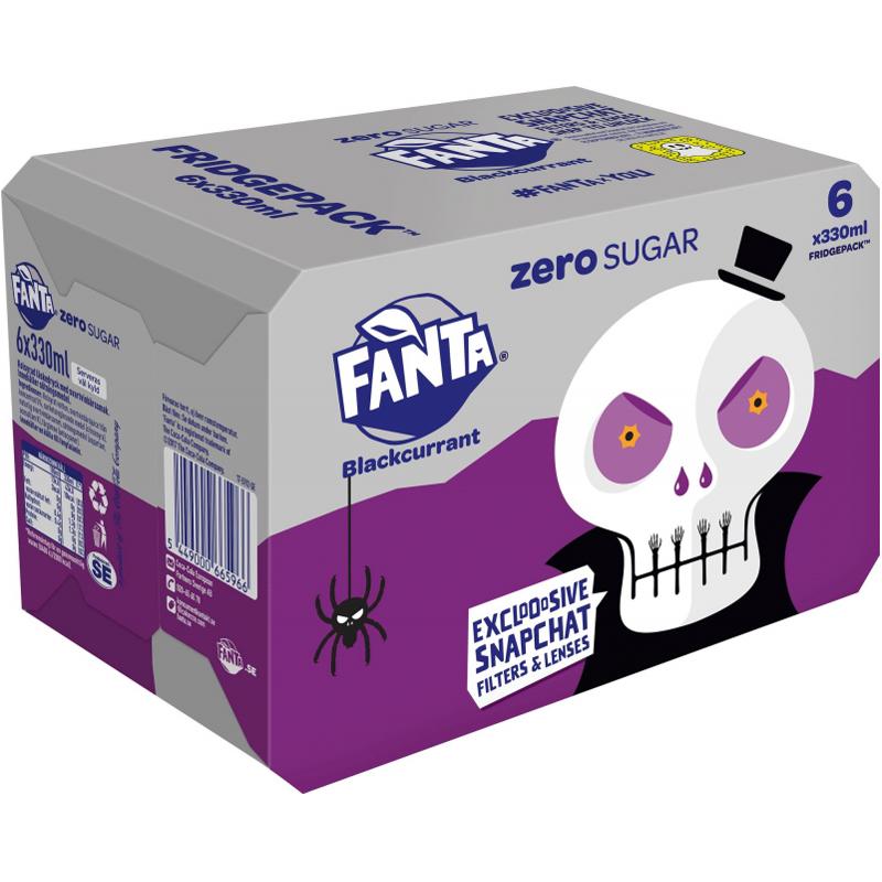 "Fanta ""Zero Blackcurrant"" 6 x 330ml - 29% rabatt"