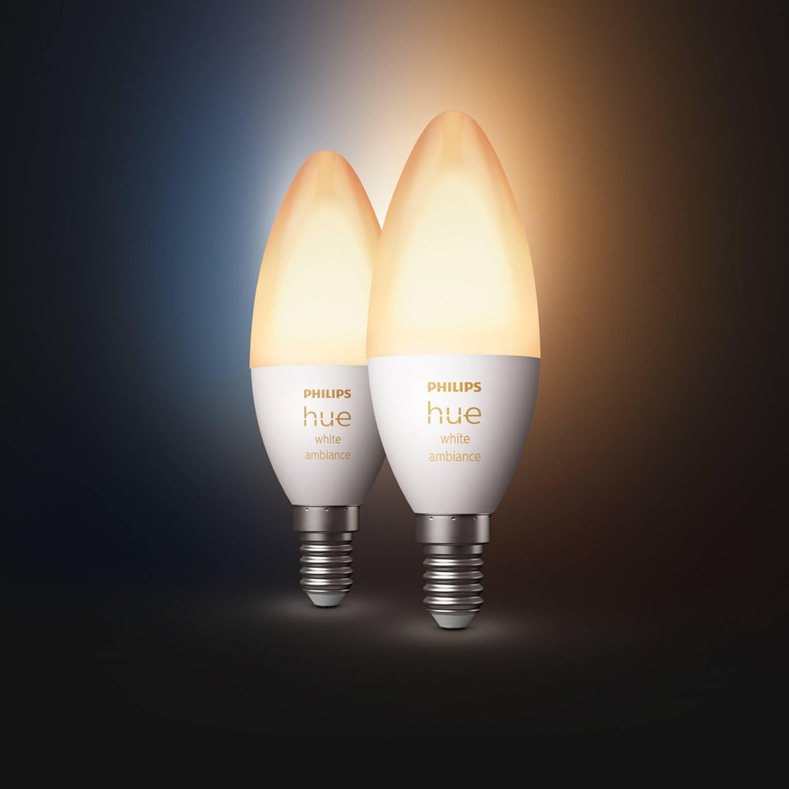 Philips Hue kynttilälamppu White Ambiance 2x E14