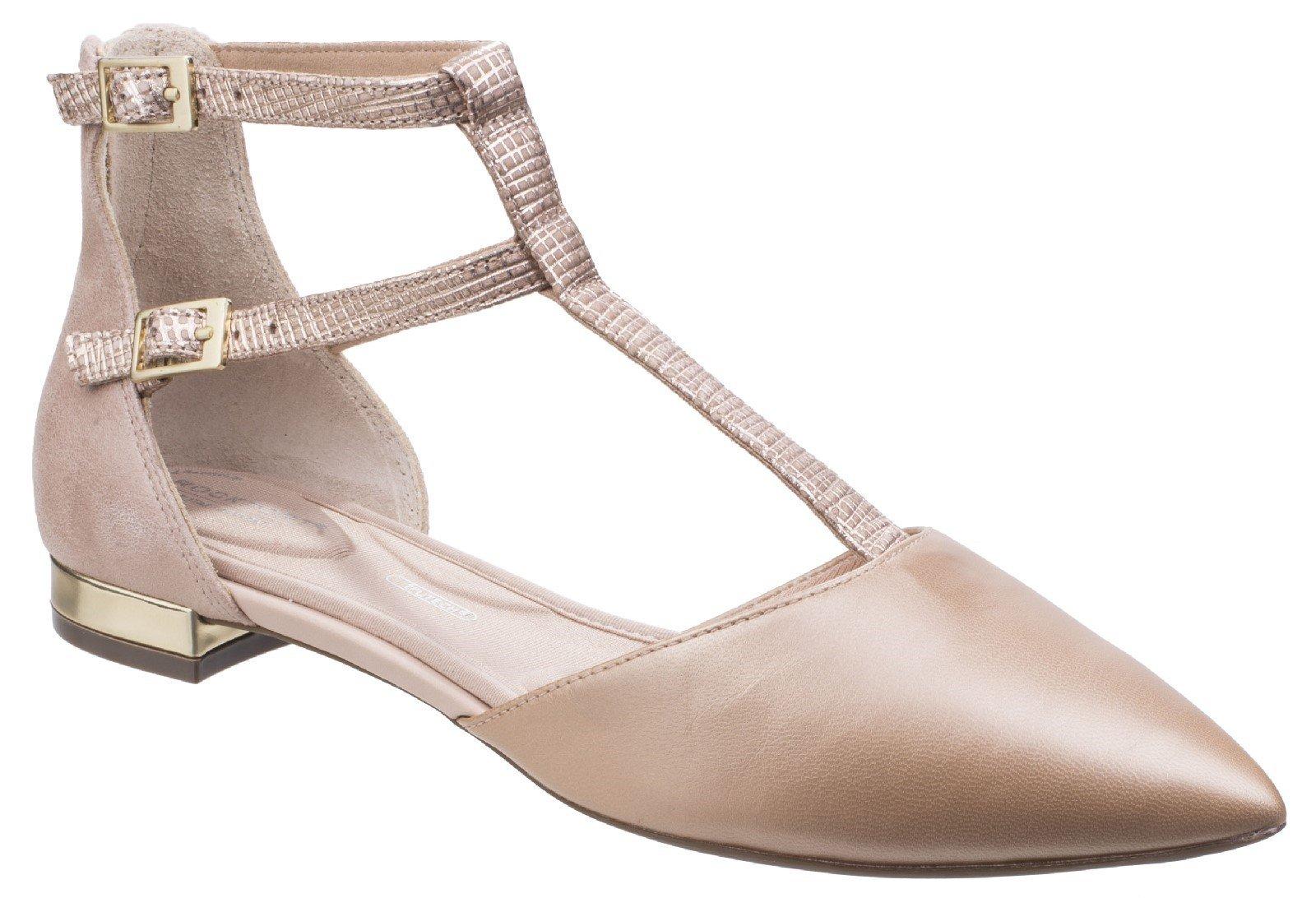 Rockport Women's Adelyn T Strap Heel Shoe Various Colours 26798 - Blush 4