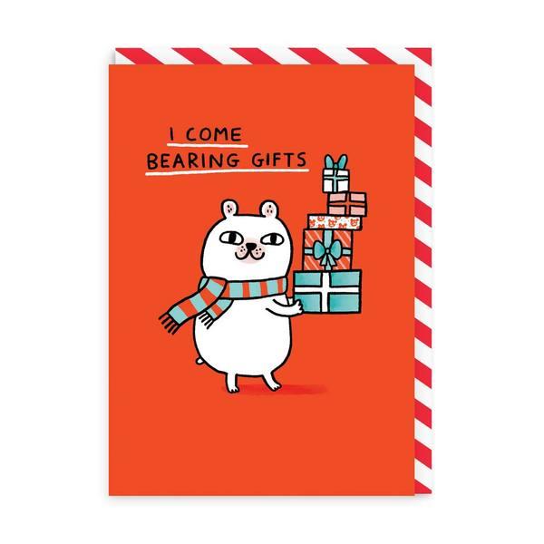 I Come Bearing Gifts Christmas Card