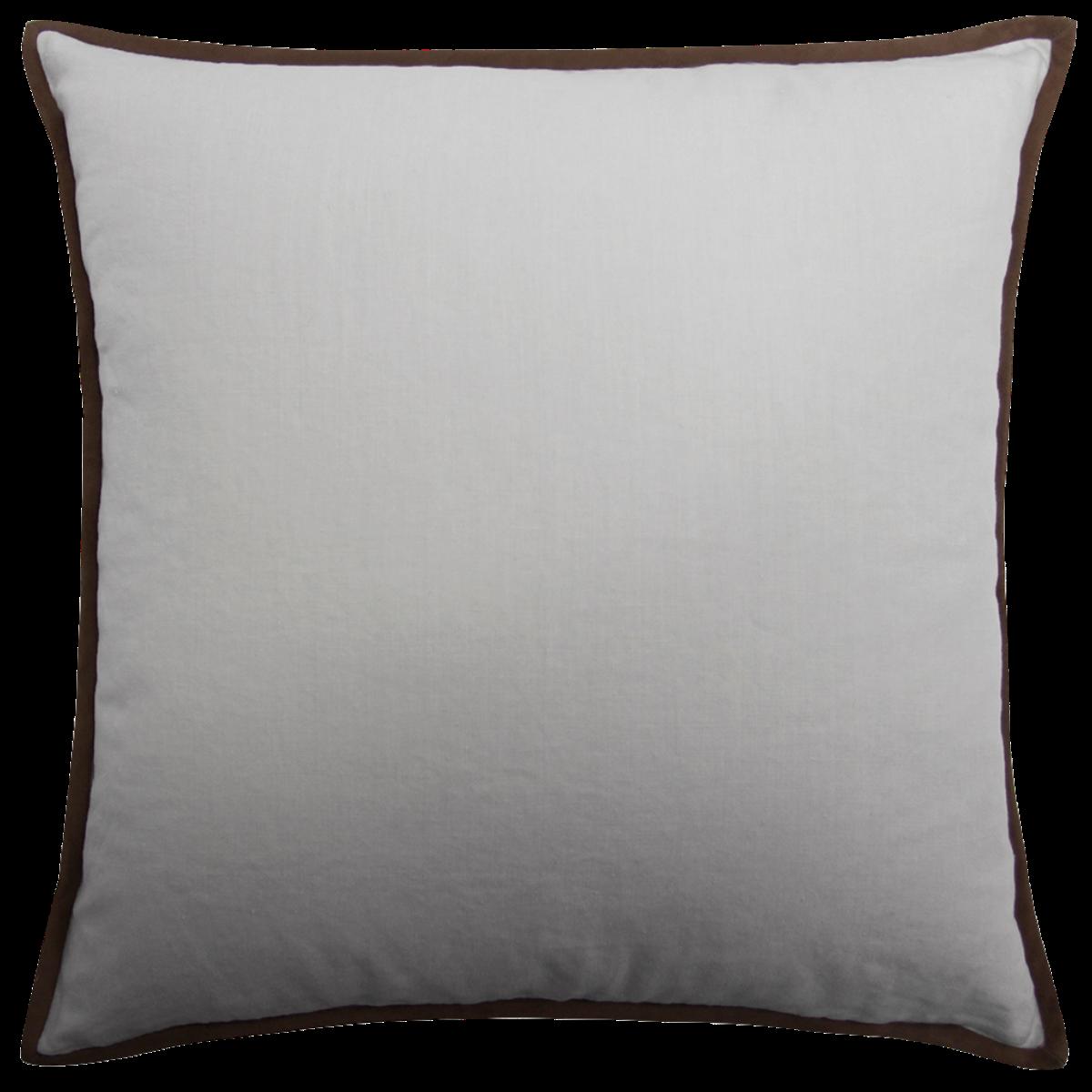 de Le Cuona | Artist Canvas Cushion With Suede Trim Veldt