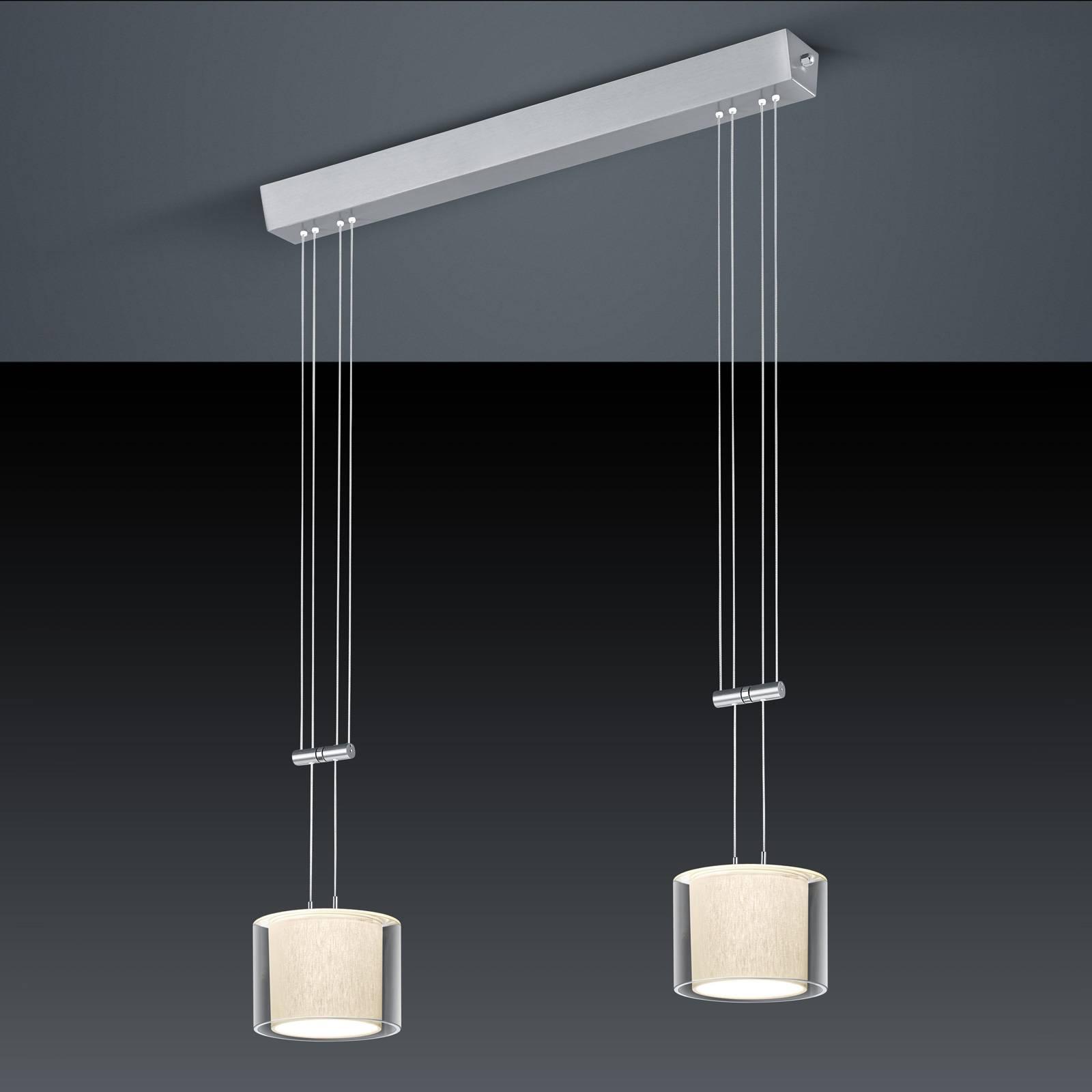 BANKAMP Cecil LED-riippuvalaisin, 2-lamppuinen