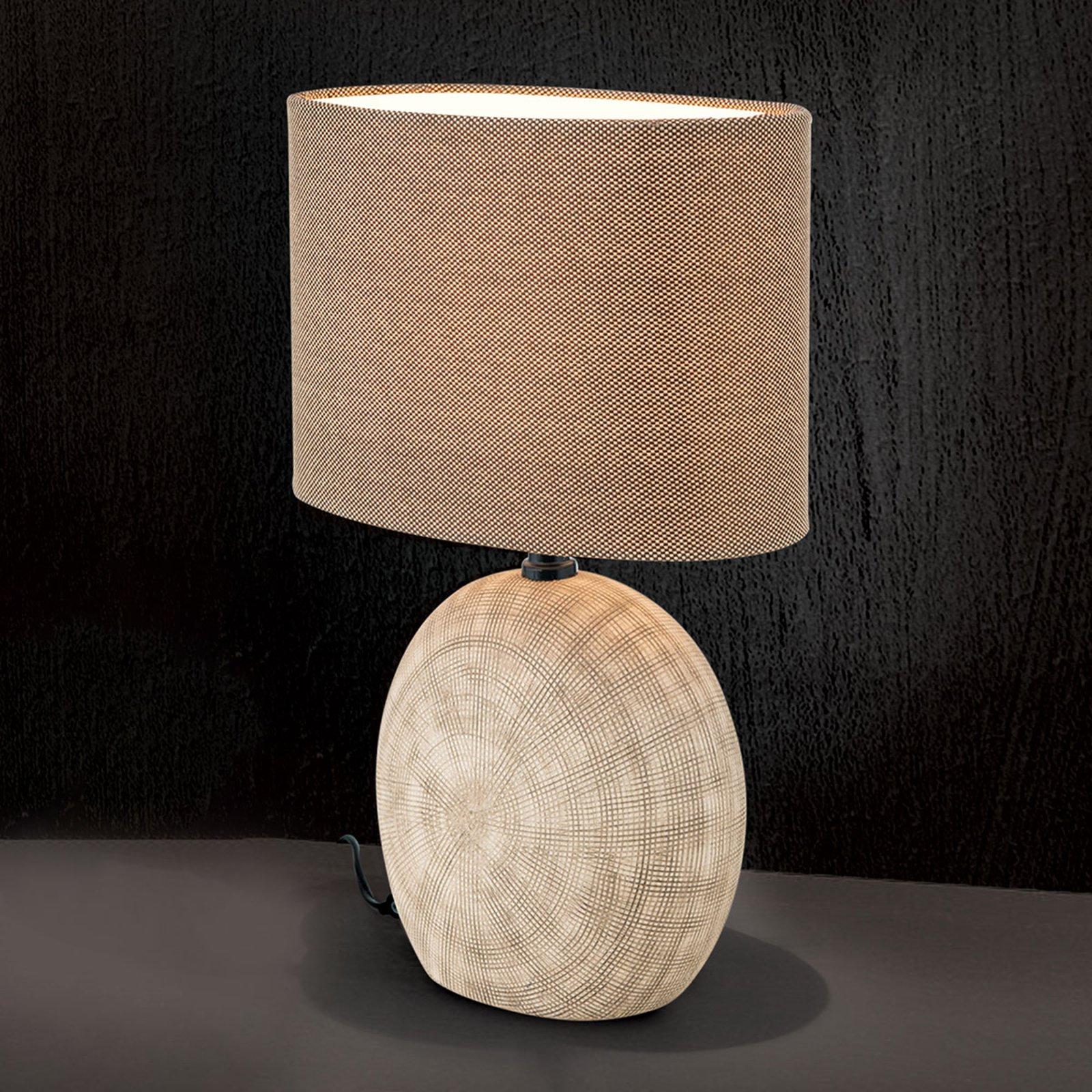 Keramisk bordlampe Ethno 52 cm brun, fot cotto