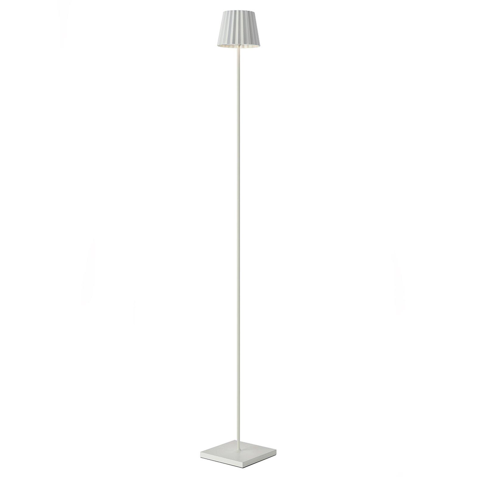 LED-gulvlampe Troll for utebruk, hvit